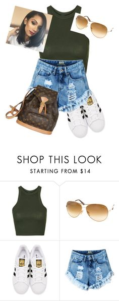 """Trillest"" by ksweet065 ❤ liked on Polyvore featuring Topshop, Tom Ford, adidas Originals and Louis Vuitton"