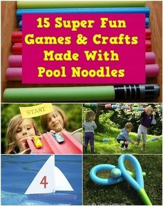 15 Super Fun Games & Crafts Made With Pool Noodles