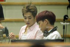 Xiumin, Kai-130912KBS-R Cool FM Super Junior's Kiss The Radio Credit: Angelonia.(KBS-R 쿨 FM 슈퍼주니어의 키스 더 라디오)