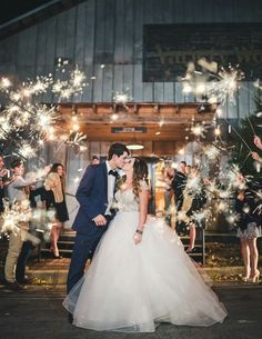 wedding inspiration,The sweetest smooch in a sea of sparklers,wedding send off ideas,bride and groom leave wedding reception, wedding sending off Wedding Send Off, Wedding Exits, Wedding Bells, Dream Wedding, Fall Wedding, Wedding Reception, Sparkler Photography, Wedding Photography Poses, Wedding Poses