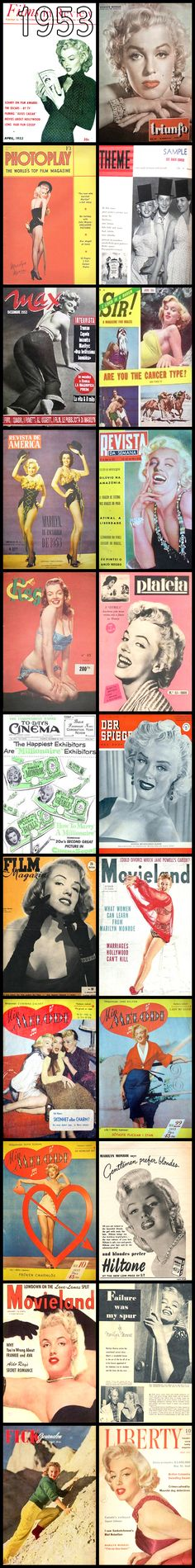 Magazine covers of Marilyn Monroe