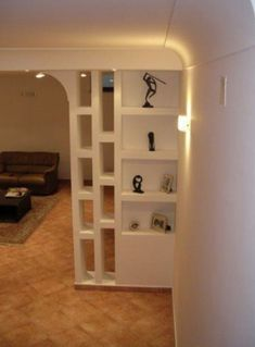 Beautiful room dividers for small space Living Room Partition Design, Living Room Divider, Room Partition Designs, Room Divider Shelves, Room Divider Walls, Room Dividers, Design Case, Wall Design, Design Room