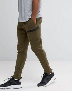 074b7ff7f371 Nike Tech Fleece Slim Trousers In Green 805218-330