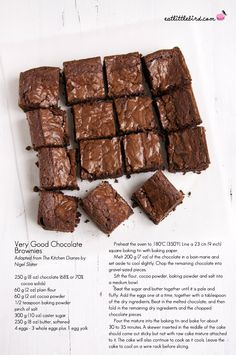 Very Good Chocolate Brownies — Eat, Little Bird