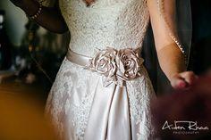 Flower shaped silk belt for wedding dress || Bride's Accessories