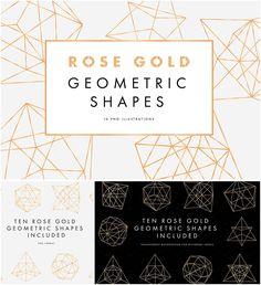 Rose gold geometric shapes