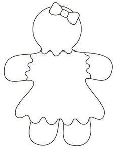 gingerbread girl template - Google Search