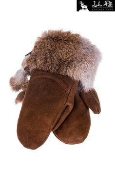 Rękawiczki skórzane z futerkiem królika - Odzież Rękawiczki - TMC Galanteria