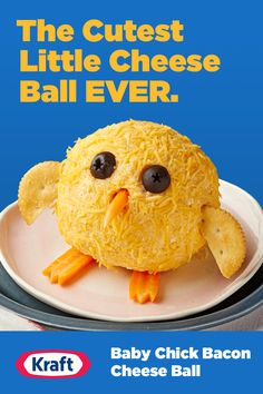 This Baby Chick Bacon Cheese Ball is a must-have at your Easter dinner. It's adorable. It's cheesy. It's a fun dish your whole family will love.