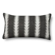 Global Oversized Lumbar Pillow - Black _ – Threshold, Ebony $24.99