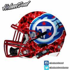 Football Logo Design, Football Helmet Design, Sports Helmet, College Football Helmets, Football Uniforms, Football Jerseys, New Helmet, Helmet Logo, Titan Helmet