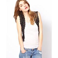 See U Soon Crochet Vest ($37) ❤ liked on Polyvore