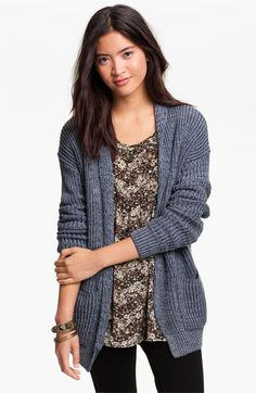 Cotton Emporium Oversized Cardigan (Juniors) available at #Nordstrom Perfect for today.