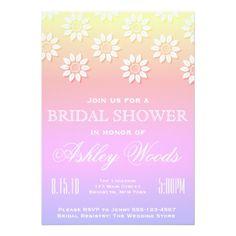 #bridal #shower #invitations - #Multi-color Floral Bridal Shower Card
