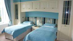 Park House B&B Carnoustie   Scotland's Best B&Bs #scotland #parkhouse #carnoustie #bedandbreakfast #bed #bedroom #builtinwardrobe #twinbeds #blue #bedlinen