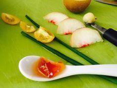 Arrangements für den Herbst: Apfel und Pfirsich