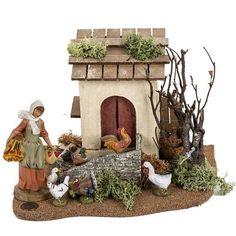 Fontanini Nativity, Christmas Nativity Scene, Nativity Scenes, Christmas Ideas, Nativity Crafts, Ceramic Houses, Art Dolls, Garden Sculpture, Ceramics