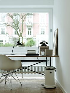 Inspired Home Office with the Paris Arm Chair available at LexMod.com.