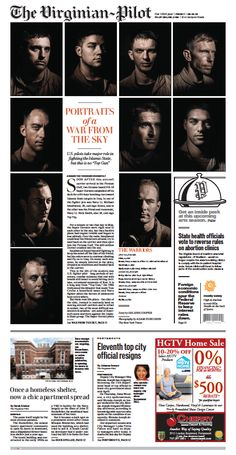 The Virginian-Pilot's front page for Friday, Sept. 18, 2015.