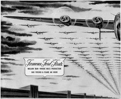 Willow Run - Michigan Ypsilanti Michigan, Airplane Art, Old Magazines, Ford Motor Company, Aviators, Military History, Vintage Ads, Airplanes, Astronomy