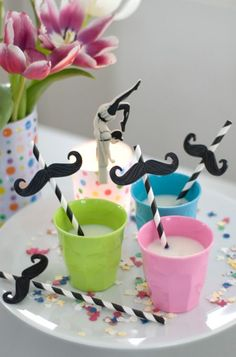 Straws decoration for kids party Party Animals, Animal Party, Lego Ninjago, Lego Lego, First Birthday Parties, First Birthdays, Lego Birthday, Moustache Party, Bonbon