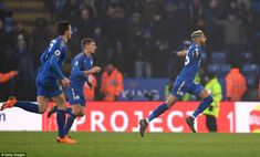 Mahrez celebrates scoring his side's first goal to seal a point for them in stoppage time at home against Eddie Howe's side