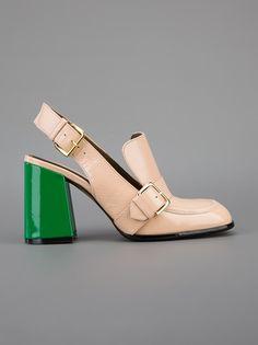 Marni - chunky heel loafer