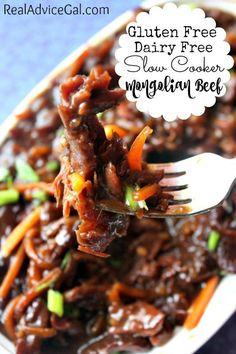 Gluten Free Dairy Free Slow Cooker Mongolian Beef Recipe