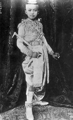 Photos of Siam's Royal Family: Ananda Mahidol as Rama VIII of Thailand, 1935