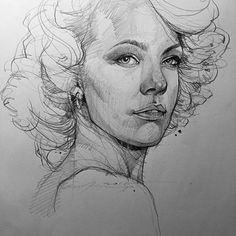 Art of Alvin: Sketching. Pencil Portrait Drawing, Pencil Art, Pencil Drawings, Art Drawings, Sketchbook Drawings, Art Sketches, Human Face Sketch, Woman Sketch, Figure Sketching