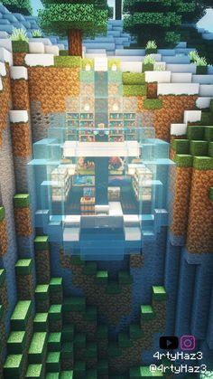 Minecraft Cards, Minecraft Ships, Minecraft Funny, Minecraft Blueprints, Lego Minecraft, Minecraft House Tutorials, Minecraft House Designs, Minecraft Tutorial, Minecraft Mansion