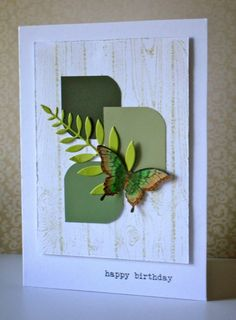 My card today is a CASE from Pinterest - I pinned this card,  because I love the simplicity of it - and here is my version:  I have been collecting some paint card samples both for some painting (our