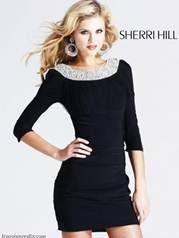Black Sherri Hill opening number cocktail dress