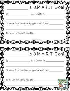 New Year Goals – Classroom Freebies - Goal Setting 2020 Classroom Freebies, Classroom Behavior, Classroom Management, Classroom Decor, Behavior Management, Future Classroom, Goal Setting For Students, Smart Goal Setting, Setting Goals