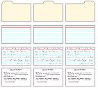 Miniature printables: All sorts of 3X5 Index cards Site has many different printables in various scales