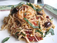 Mediterranean Pasta with Feta, Sun Dried Tomatoes, Lemon and FreshBasil