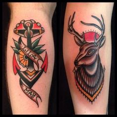 We love the traditional tattoo style here - awesome colours and designs. #tattoo #inspiration #vintage #retro
