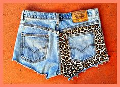 awesome DIY cheetah print jean shorts!