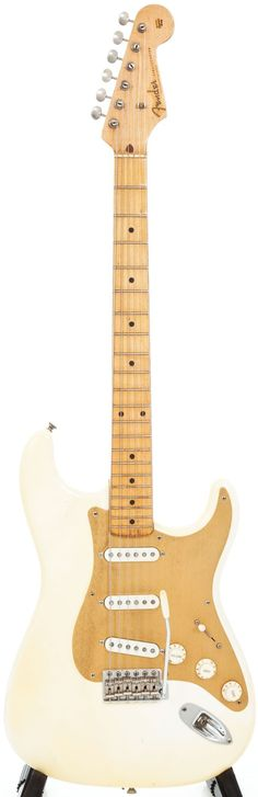 Musical Instruments:Electric Guitars, 1957-58 Fender Stratocaster Olympic White Electric Guitar, Serial #31492.... Image #1