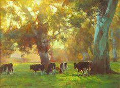"""Sunset Pastoral"" by John McCartin, contemporary Australian painter"