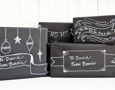 christmas 'chalkboard' packaging