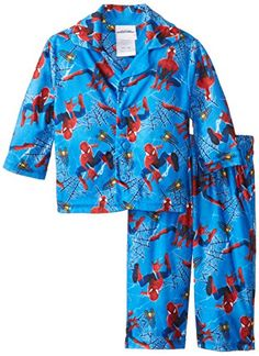 Spiderman Baby Boys 2 Piece Coat Pajama Set Multi 12 Months * More info could be found at the image url.