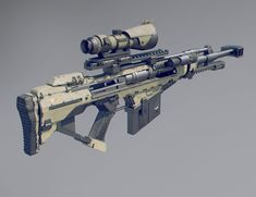 Main sniper weapon, fairly compact and useful at mid to long range. Is silenced and thermal + night vision scope. 12 rounds per reload.