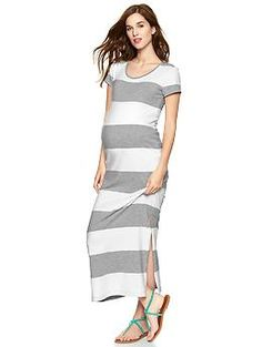 Striped maxi maternity dress | Gap