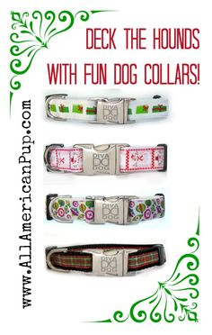 Holiday Dog Collars!  Your hound will be all decked out with these festive Christmas Dog Collars.  Click here -http://allamericanpup.com/category_53/Holiday-Goodies.htm