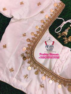Hand Work Blouse Design, Simple Blouse Designs, Stylish Blouse Design, Designer Blouse Patterns, Fancy Blouse Designs, Blouse Neck Designs, Kerala Saree Blouse Designs, Traditional Blouse Designs, Red Saree