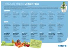 Healthy juice recipes alert.! Let's kick start a healthy new habit with the Philips 21 day #RealJuiceReboot plan. We've got some great recipes from Madeleine Shaw, Joe Wicks and members of our Facebook community. Are you rebooting with us?