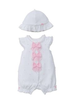 d6203db8705 Little Me 2-Piece Garden Party Romper and Hat Set