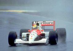 Ayrton Senna (Marlboro McLaren-Honda V12, MP46). Qual 1st. Race 1st. Brazilian GP, Interlagos, 1991. #F1 —— Legend ——— The first victory in Brazil ——–