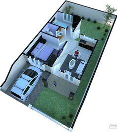Denah Rumah Minimalis My House Plans, House Layout Plans, House Layouts, Small House Plans, Bungalow House Design, House Front Design, Small House Design, Modern House Design, Modern Minimalist House